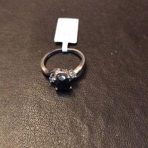 10KT Black Diamond Solitaire Ring